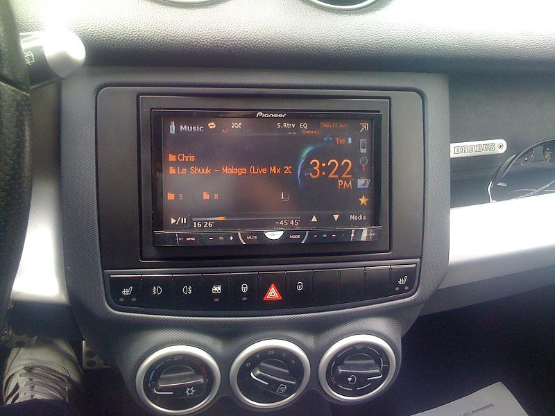 2-DIN Moniceiver by 44Tuning in Colt CZT