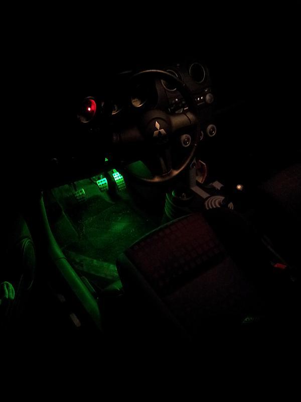 Fußraumbeleuchtung grün